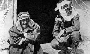 T. E. Lawrence with American broadcaster and explorer Lowell Thomas.