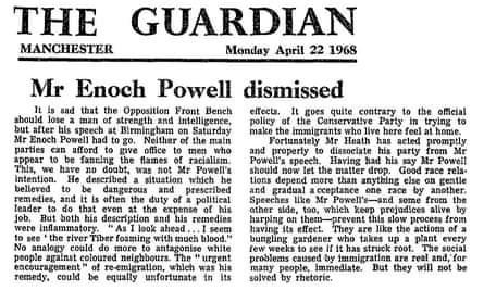 Editorial, the Guardian, 22 April 1968.
