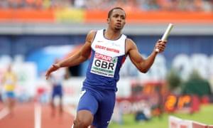 CJ Ujah, GB 4x100m relay team, Amsterdam