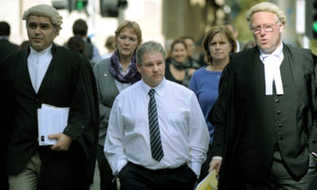 Robert Farquharson at Melbourne Supreme Court for his retrial in 2010.