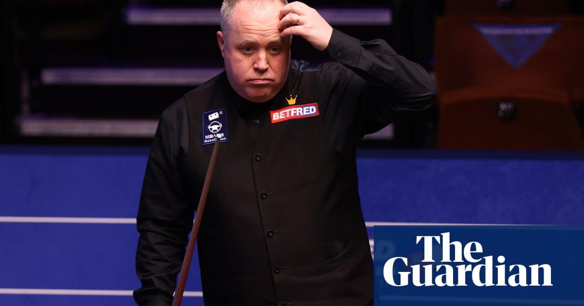 John Higgins blames Crucible pressure for struggling to defeat Tian Pengfei