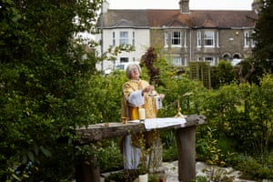 3 May: The Rev Helen Chandler conducts a Sunday service in her garden outside St Peter and St John, an Anglican church near Lowestoft, Suffolk
