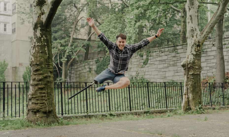 One-legged tap dancer Evan Ruggiero