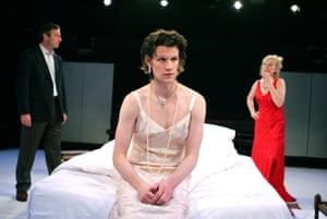 Julian Wadham as Hugh, Matt Smith as Henry and Lindsay Duncan as Martha in That Face in 2007.
