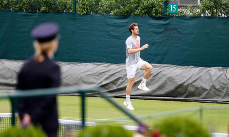 Andy Murray prepares at Wimbledon for another attempt to win the singles title.