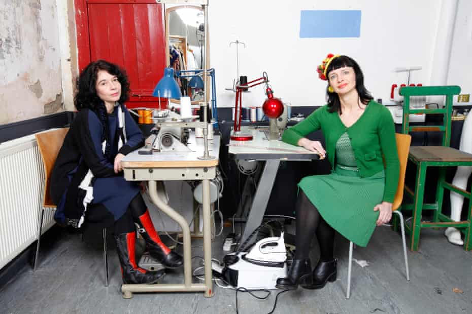 Orsola de Castro (left) and Carry Sommers at De Castro's studio in south London