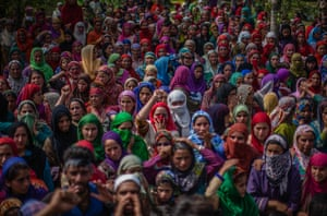 Keller, Indian Kashmir Kashmiri Muslim women attend the funeral of Jahangir Khanday, a Kashmiri rebel killed in a gun battle with Indian government forces.
