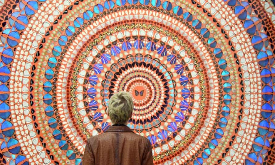 Damien Hirst's exhibition in London.