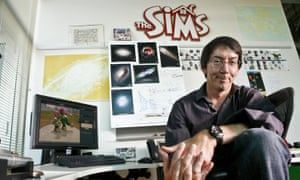 Will Wright wrote a game in which a helicopter drops bombs on islands, but became more fascinated with the islands than with the weaponry.