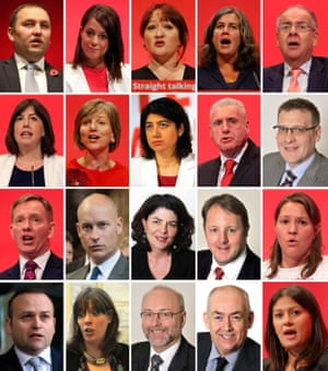 Labour MP resignations: Ian Murray, Gloria De Piero, Kerry McCarthy, Heidi Alexander and Lord Falconer; Lucy Powell, Lilian Greenwood, Seema Malhotra, Vernon Coaker and Karl Turner; Chris Bryant, Stephen Kinnock, Diana Johnson, Toby Perkins, Anna Turley; Neil Coyle, Jess Phillips, Alex Cunningham, Wayne David and Lisa Nandy.
