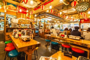 Wood works: an izakaya in Tokyo.