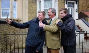 Nigel Farage poses for a selfie in Broadstairs, Kent