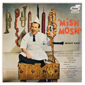 Mickey Katz's Mish Mosh Jewish comedy albums were bestsellers. From 1945, Mickey Katz, in his popular parodies in 'Yinglish', caricatured the yearning of American Jews to be absorbed into a so-called melting pot. A new, younger generation of comics, from Mel Brooks to Jerry Lewis and Woody Allen, were got their start as entertainers in the Jewish hotels and resorts in the Catskills. Jewish performers such as Tom Lehrer and Lenny Bruce satirised self-righteousness and picked apart life's delusions