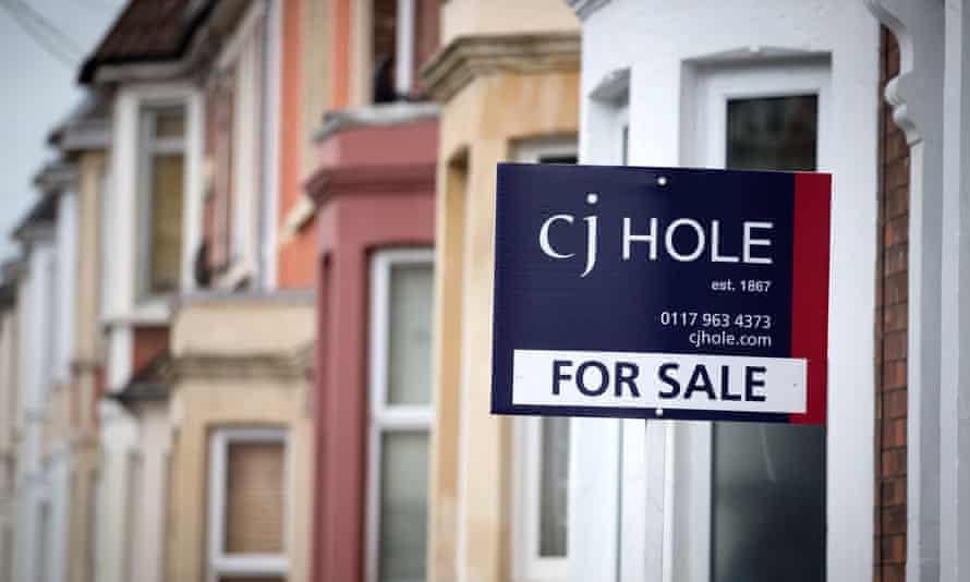 A estate agent's board outside a property in Bristol