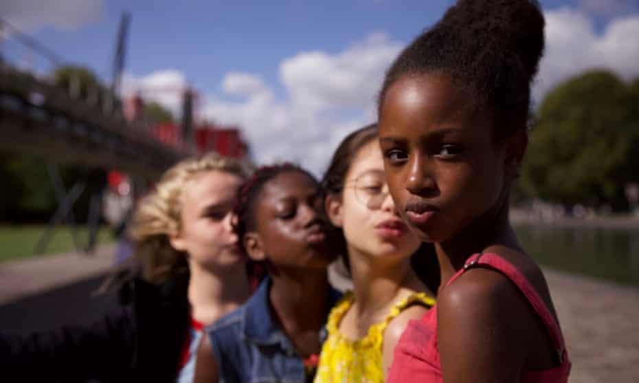 The cast of the Netflix movie Mignonnes (Cuties).