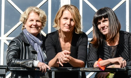 Sandi Toksvig, former Women's Equality party leader Sophie Walker and Catherine Mayer at the launch of the party.