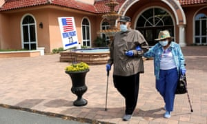 Voters in The Villages, Florida. The law enacts restrictions on voting by mail and ballot dropboxes, which activists have warned will have a negative impact on voter turnout.