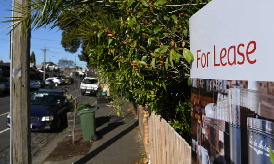 Signage for a real estate property is seen in Carlton North, Melbourne, July 18, 2018.