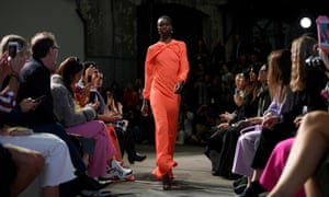 A model walks the runway wearing creations by Bianca Spender during Mercedes-Benz Fashion Week Australia