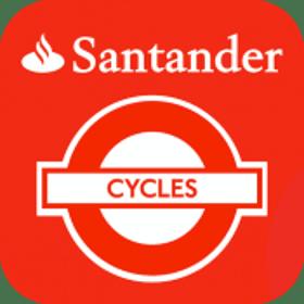Santander Cycles logo.