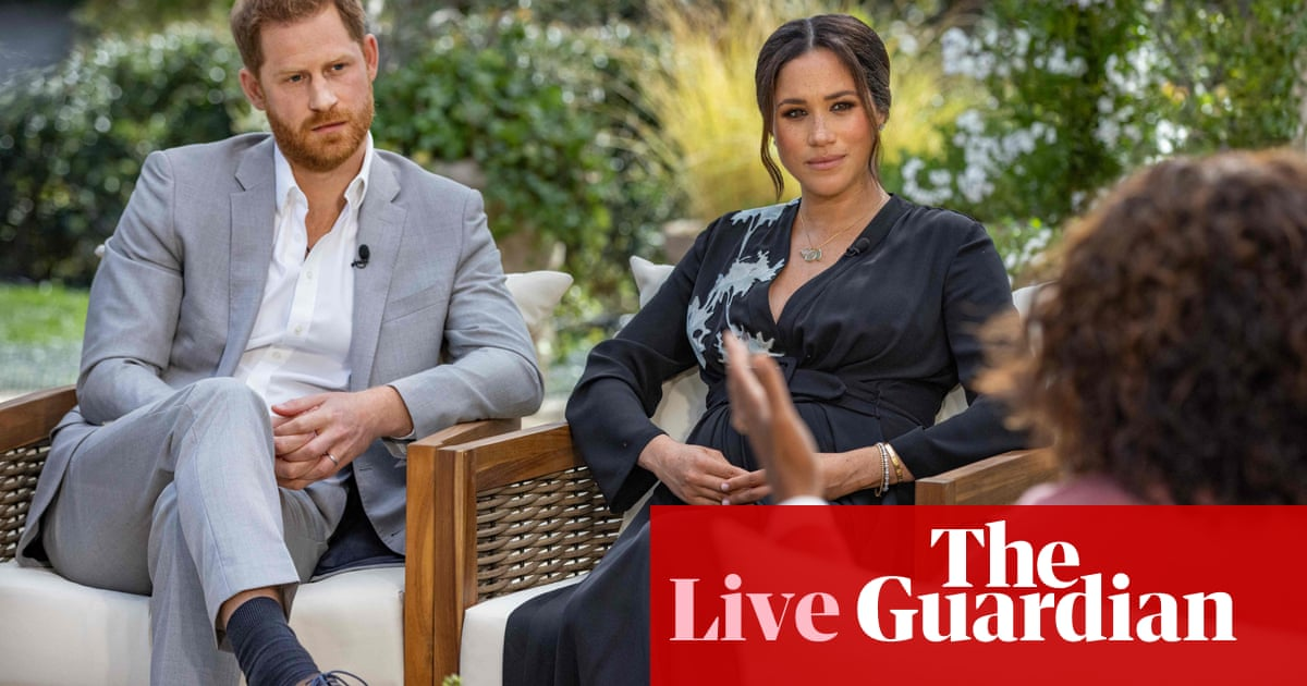 Harry and Meghan Oprah interview: royals speak out in CBS special amid palace row – live