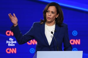 Kamala Harris and other tackled women's healthcare and abortion rights.