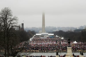 People pack the National Mall for the March in Washington