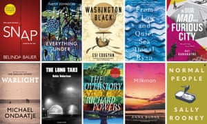 Books longlisted for the Booker prize 2018.