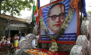 A procession to mark the birth anniversary of Dr BR Ambedkar.