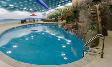 Leisure facilities include a pool, pet park and climbing wall.
