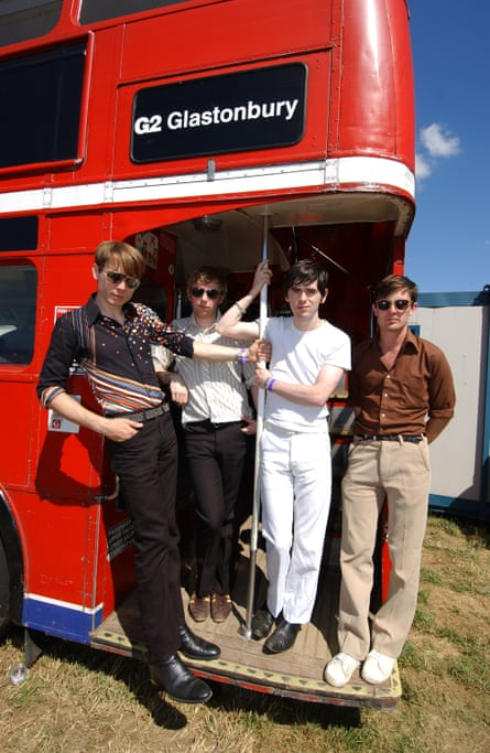Fearless fringers … Franz Ferdinand at Glastonbury.