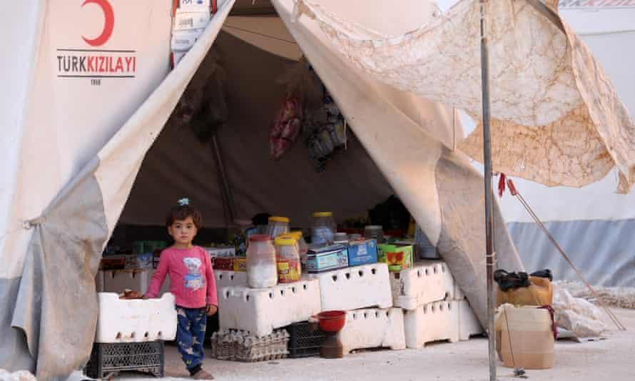 The 'Hope' camp in Kafaldin on the Syrian-Turkish border.