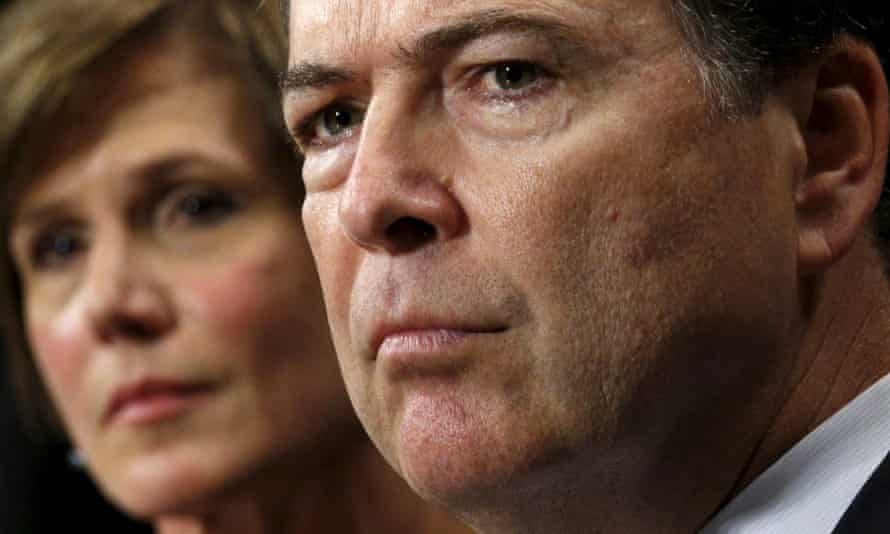 FBI director James Comey, right, and US deputy attorney general Sally Quillian Yates testify during a Senate judiciary committee hearing on encryption.