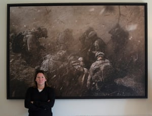 'Photography makes history real, puts it in our face' … Harriet Logan in front of Medivac.