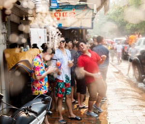 New Year in south-east Asia is celebrated by mass water fights. The people of Luang Prabang in Laos take the tradition more seriously than most, and it's a spectacle not to be missed