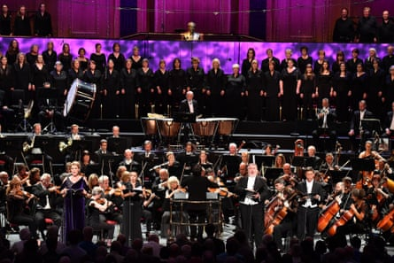 The BBC National Orchestra and Chorus of Wales and CBSO Chorus conducted by Xian Zhang in Beethoven's 'Choral' Symphony, with soloists Erin Wall, Sonia Prina, Simon O'Neill and Alexander Vinogradov.