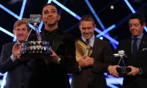 Lewis Hamilton, winner of the BBC Sports Personality of the Year 2014, at the SSE Hydro, Glasgow.