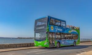 The Purbeck Breezer bus, Dorset.