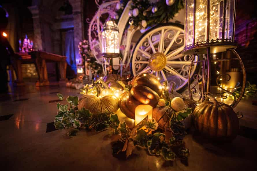A dazzling display of Cinderella-themed light installations at Blenheim Palace