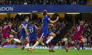 Kevin De Bruyne fires Manchester City to victory at Stamford Bridge after a smart piece of play with Gabriel Jesus.