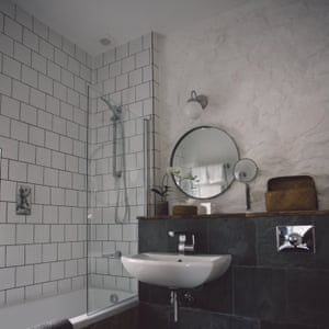 Bathroom at a room at Langland Cove Guesthouse, Mumbles, Swansea
