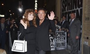 Bruce Springsteen with his wife Patti Scialfa in October. Tickets are selling upwards of $1,200 on the secondary market.