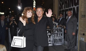 Springsteen with wife Patti Scialfa on opening night for his broadway run last year.
