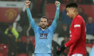Manchester United v Burnley FC - Premier League<br>MANCHESTER, ENGLAND - JANUARY 22: Jay Rodriguez of Burnley celebrates after the Premier League match between Manchester United and Burnley FC at Old Trafford on January 22, 2020 in Manchester, United Kingdom. (Photo by Matthew Peters/Manchester United via Getty Images)