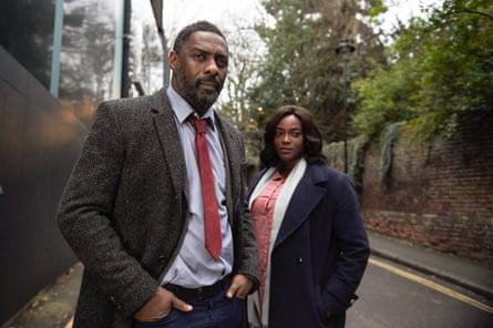 Idris Elba and Wunmi Mosaku in Luther.