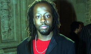 'That line is important to you?' … Wyclef Jean at the Mobo awards, 1999.