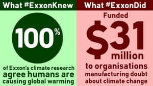 What #ExxonKnew vs what #ExxonDid.