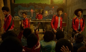 Skylan Brooks, TJ Brown, Shameik Moore, Justice Smith and Jaden Smith in The Get Down.