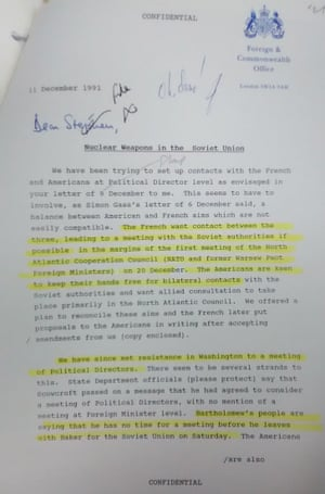John Major's comment, 'Oh dear', on the Foreign Office letter.