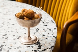 The Rose's anchovy-stuffed 'very good' deep-fried olives